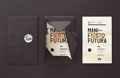 Manifiesto Futura Invitation - FPO: For Print Only #silkscreen #invitation #print #design #graphic #identity