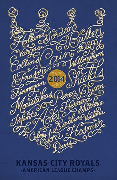 Kansas City Royals 2014 BY Elizabeth Baddeley #baseball