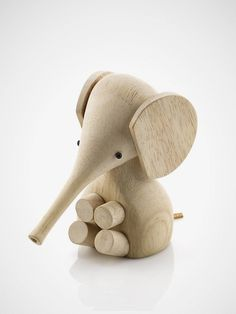 Gunnar Baby Elephant Human Empire #wood #toy #elephant