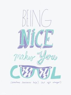 Being Nice Art Print - Society6 #poster #typography