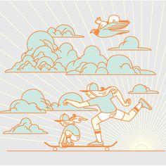 - Skate Together #illustration