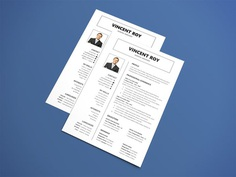 Free Manager Resume Template with Formal Design Layout