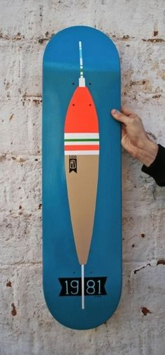 Handmade Board / 1981 #board #design #paint #sea #skate #art #fishing