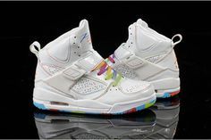 Womens Michael Air Jordan Flight 45 High GS Rainbow Girls ShoesWomens Michael Air Jordan Flight 45 High GS Rainbow Girls Shoes #fashion