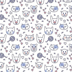 Cute Animal Pattern Vectors