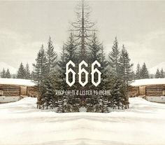 NORTH 06 font on Typography Served #typography #photo #666 #hail satan