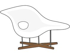 La Chaise - Charles & Ray Eames - #illustration #interiordesign