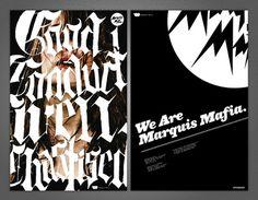 Marquis Mafia - Brett Peter Stenson #marquis #mafia #stenson #design #brett #poster #music #logo #typography