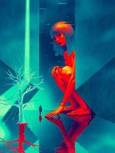 James Jean's finished poster for Blade Runner 2049