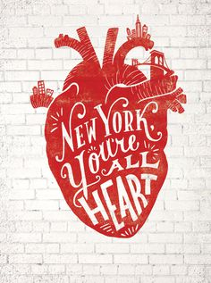 Time Out New York by Lauren Hom #heart #nyc #typography