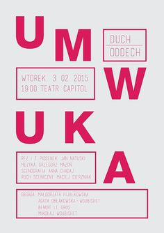 UMWUKA- poster idea on Behance #poster #theater #typo #typography
