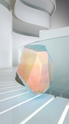 Crystal Series #corian #3D #iridiscent #animation #architecture #colour #minimal #crystal