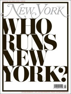 Type on New York Mag - Coverjunkie.com #magazine #typography