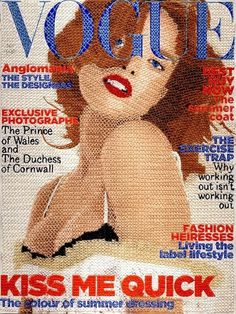 Hand stitched Vogue Covers - today and tomorrow #fashion #illustration
