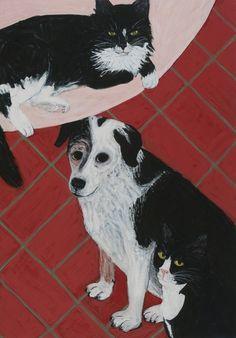 Sarah McEneaney, 'Triple Pet', 2013, Tibor de Nagy