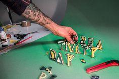 Creativity Day 2013 on Behance #cday #roma #event #made #creativity #design #2013 #laser #milano #craft #reggio #cutting #day #hard #graphics #hand #fablab #emilai
