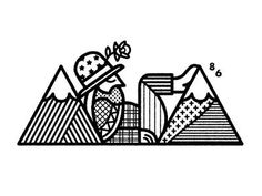 Mountain Man by Chris DeLorenzo #illustration #illu #graphic #design #lineart #charcter