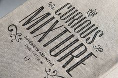 Lost Type Co-op | Blog #logo #cloth #typography
