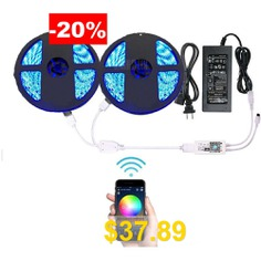 Supli #Wifi #Smart #Controlled #Waterproof #LED #Strip #Light #- #RGB