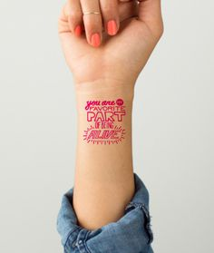 Create custom-designed temporary tattoos with your Valentine's message #tattoo #ink