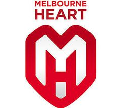 Football Manager 2012 Melbourne Heart Story #heart #mark #badge #sport #mh #negative #space #melbourne #logo #australia #club
