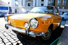 All sizes | Roma2011_141 | Flickr - Photo Sharing! #small #automobile #orange #italian #1970s #car