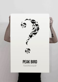 PEAK BIRD on Behance #illustration #white #black