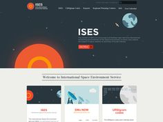 Ises_wip2 #flat #universe #space #website #layout