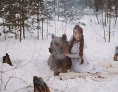 Olga Barantseva Captures Dreamlike Scenes With a 700-Kilogram Brown Bear