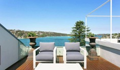 This spectacular beachfront home is an inspiring haven of luxury, boasting fantastic views over Middle Harbour and out to the ocean. Book with Villa Getaways.