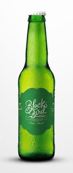 black bird, bird, beer, green, simple, simplicity, design, culture
