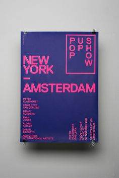 New York — Amsterdam #typography #poster