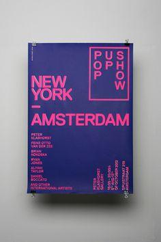 New York — Amsterdam #typography #poster