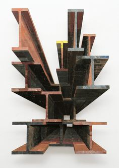 Found Wood Assembled Into Bas-Relief Sculptures by Ron van der EndeJanuary 27 #wood #sculpture