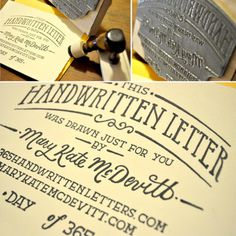 Typeverything.comHandwritten Letter Stamp by Mary Kate McDevitt.(via iloveligatures) #type #lettering