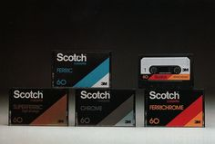 scotch-cassettes.jpg (1000×676) #retro #vintage #audiocassette