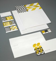 Branding And Identity Design #identity #pattern #color #stationary