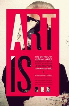 RACHEL MATTS #visual #red #school #typography #city #of #is #subway #arts #poster #art #york #new
