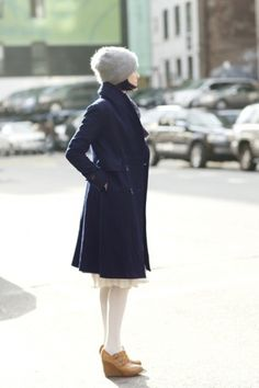 The Sartorialist #girl #new #coat #york #navy #winter