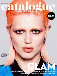 catalogue #hair #glam #orange #catalogue