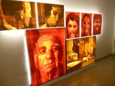 Kahaisman and gallery with tape art paintings #portraits #tape #art #paintings