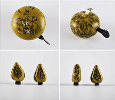 Zaczarowana Walizka / Magic Suitcase #accesories #bell #caps #fox #leaf #bicycle #forest #valve #green