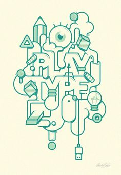 Play type #design #quality #typography