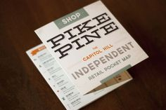 P I K E / P I N E map #shopping #seattle #map #independent #illustration #pike #pine