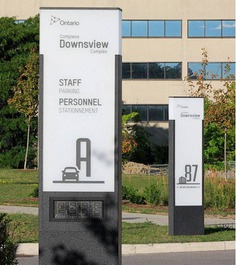 Wayfinding | Signage | Sign | Design | Downsview Complex