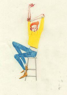 David de las Heras | A R T N A U #illustratrion #yellow #hair #man #ginger