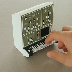 Scale #miniatures #synth #craft #art #paper