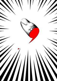 オトシマエ #ball #japanese #graphic #severed #point #pen #realistic #thumb #action