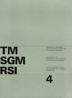 Cover from 1963 Typographische Monatsblätter issue 4