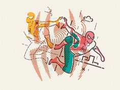 Spiderman illustration by James Oconnell - Colours and Lines